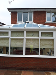 conservatory after being cleaned in bolton
